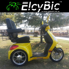 48V motor yellow cool comfotable 3 wheel electric bicycle electric scooters(E-TDR06)