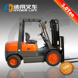3t China supplier diesel engine forklift machinery driving test motors