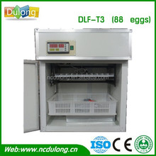 lowest price! full auto & portable chinese plastic egg incubator temperature humidity controller DLF-T3 holding 88 chicken eggs