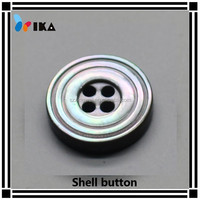 different size flat 4 hole normal round with rim black mop button