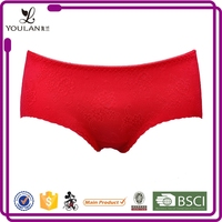 Hot Selling Sweet Young Women Red Nude Sexy Short Panty Woman Underwear