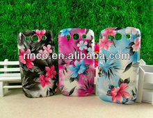 Flower hard back case cover for Samsung Galaxy S3 S III 3 i9300 phone case