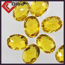 Yellow Oval shape Nano Material natural Citrine Gems