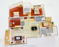 Internal model building/custom made scale models, Residential Plan architectural scale model making