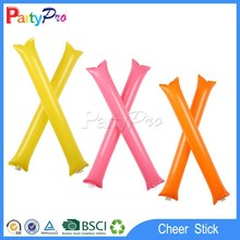 EN71 PEAR 1/2/3(SGS) approved zhejiang promotional led light glow inflatable balloon stick clappers