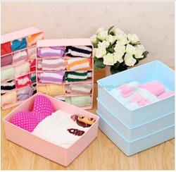 Q1067 best plastic socks bra underwear storage box