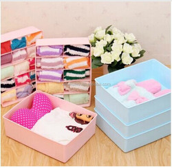 Q1067 best plastic socks bra underwear storage box