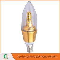 Aluminium & Plastic energy saving 5W led light candle light bulb