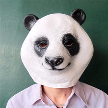 Latex Panda Mask Adult One Size fits all Costume mask - NEW FREE 2 DAY SHIP