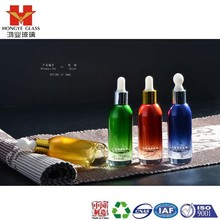 Essential oil set green/red/blue color empty cosmetic packaging dropper glass bottle HY1382