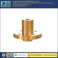 Customized hot sale top grade cnc turning brass flange bushing