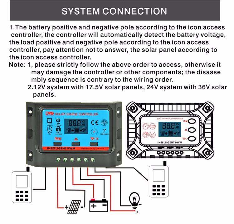 Cmtd 10a 20a 12v 24v Manual Solar Charge Controller Buy