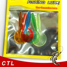 Soft Grubs Fishing Lures Fishing Baits 60mm 2g 5pcs/bag Top Fishing Lure Pesca Artificials Iscas worm lure soft carp