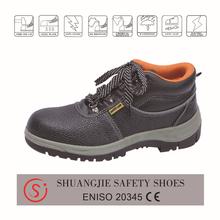 China leather man shoe, buffalo leather working safety shoes