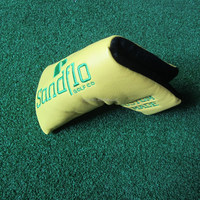 Custom made putter golf head covers with logo embroidery