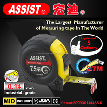 New design high quality 3m heavy duty waterproof retractable steel measuring tape/ steel tape measure with customized logo