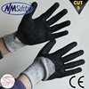 NMSAFETY 13 gauge anti cut gloves latex coated hppe level 5 cut resistant gloves