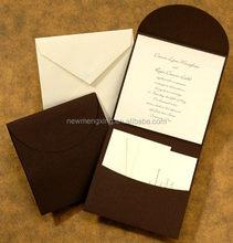 Popular best sell wedding invitation card creative folding