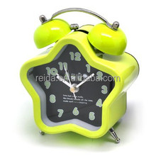 hexagon metal twin bell alarm clock