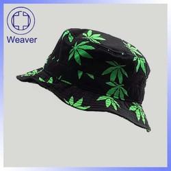 Wholesale Free Pattern Children Bucket Hat / Fashion Leaf Kid Summmer Hats