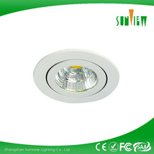 Small adjustable 6W high lumen COB LED recessed downlight/LED light/competitive price LED series