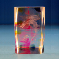 new products K9 glass cube/block gift 3d laser engraved dragon crystal
