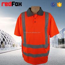 t-shirt hi vis low price 100% polyster safety t-shirt led programming message t-shirt