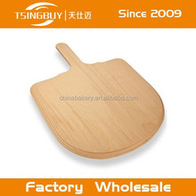 Factory hot selling high quality 100% natural wooden pizza peel custom size