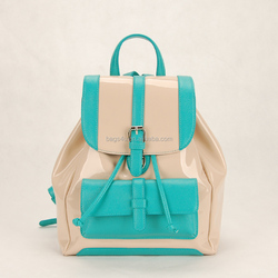 2015 ladies fashion PU leather backpack bag online shopping hong kong