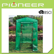 Portable and super large garden plants walk in greenhouse 125*190*195cm, PE garden plants greenhouse