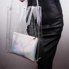 Brand new transparent pvc handbag brand women handbag kinds of handbag with high quality