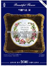New design cross-stitch hand embroidery design patterns creative pillow case