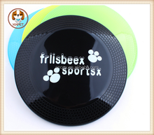 Pet toys green color printing plastic transparent pet frisbee Environmental protection plastic advertising frisbee dog