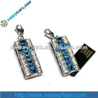 Cheap 4gb can rotate jewelry necklace usb flash drives