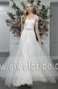 S1594 Elegant long sleeve appliqued chiffon wedding dress designs