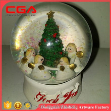 Chinese factory wholesale polyresin water ball,christmas decor water ball, holiday gifts