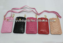2013 New Hot and popular Ostrich grain leather case for Casio TR150 TR200 for iphone 4/5 for samsung 9300 9200 9220