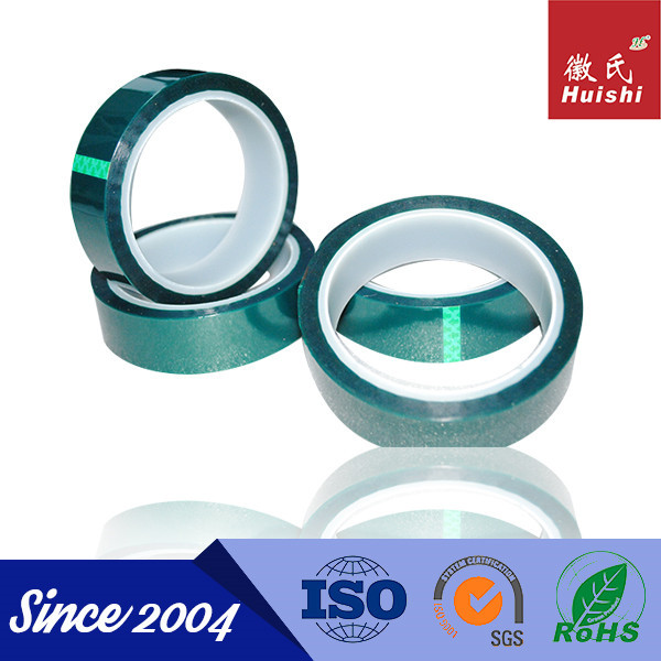 Verde 180C resistente ao calor nenhum resíduo adesiva poliéster de Silicone fita adesiva