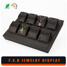 store jewellery showcase pu plastic jewelry tray