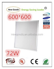 In stock item 72w led panel light 600*600 size with CE ROHS approval