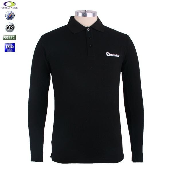 Custom 100 cotton silk screen printing polo shirt long for Screen printing polo shirts