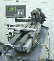 bench metal lathe machine 2 axis digital readout with multi line laser linear scales