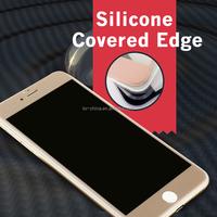 Newly Design Unique Silicone Edge Color Privacy Screen Protector For Iphone 6