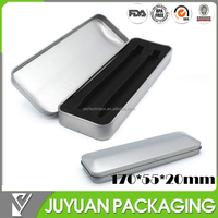 2014 HOT SALE tin pencil box, tin pencil case with metal silver finish