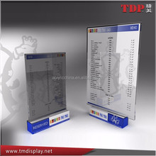 durable sign board acrylic menu holder Manufacturing