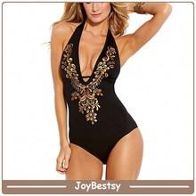 Senhora sexy deep- v vestido de praia desgaste swimwear swimsuit swimwear do biquini tecido
