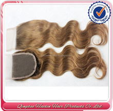 High quality very cheap brazilian hair 7a light brown lace closure