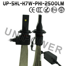 Easily installation h7 led headlights, DC 12-24V 2000lm h7 led headlight bulbs, high power h7 car led headlight