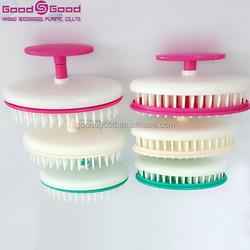 Plastic Handle Material and Plastic Tooth Material detangling massage comb Magic Bean Hair Brush