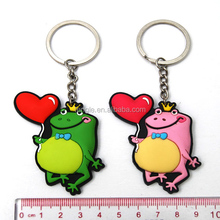 fancy pvc dancing flog keychain with different color KC 1213